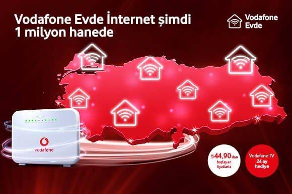Vodafone Evde İnternet 59.90 TL 'den başlayan fiyatlarla!