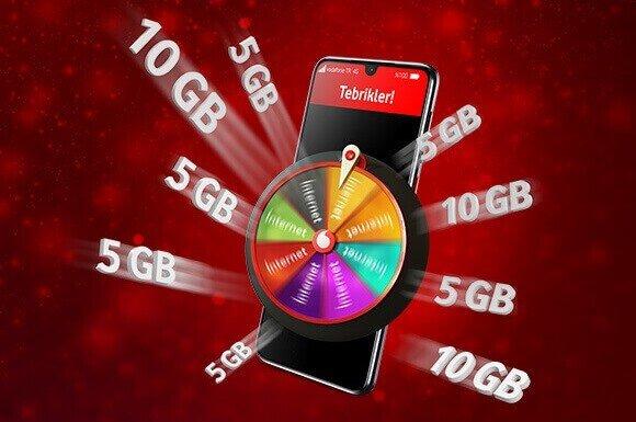 Tüm Vodafone'lulara Hediye Çarkı'ndan bol GB kampanyası başladı!