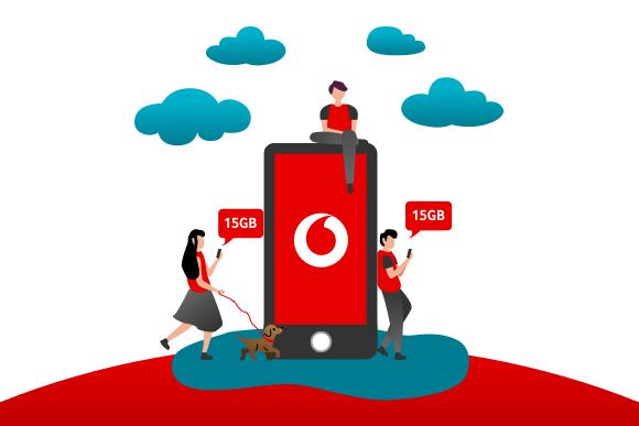 Arkadaşını Vodafone'a davet et, hem sen hem de arkadaşın 15GB internet kazanın!