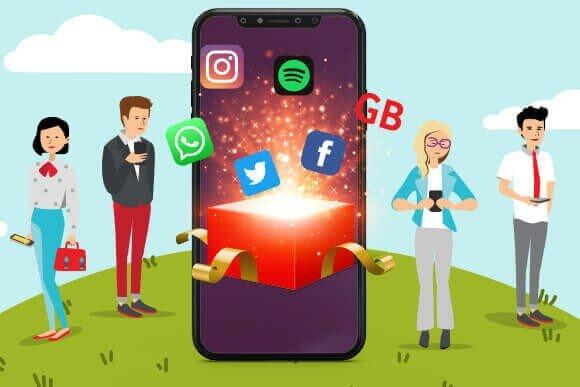 WhatsApp, Spotify ve 5 GB ile sınırlı Instagram, Facebook, Twitter ve 2 GB internete varan hediyelerden faydalanmak için hemen grubunuzu kurun!