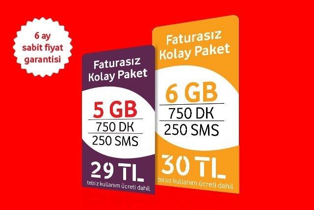 Hemen Vodafone Faturasıza gelin, seçtiğiniz kolay paketi sadece 1TL farkla 1GB büyütün!