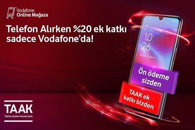 Ön Ödeme'li cihaz alışverişlerinize %20'ye varan ek katkı Vodafone'dan!