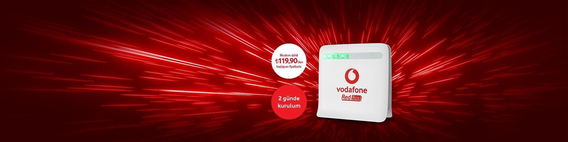Vodafone Evde Redbox Tarifeleri