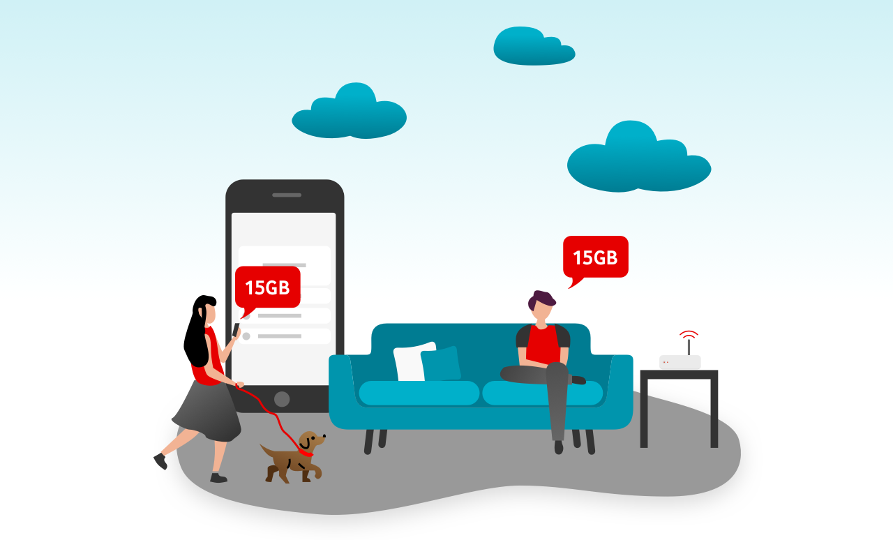 Arkadaşını Vodafone'a davet et! Hem siz hem arkadaşınız 3 ay geçerli 15GB hediye kazanın!