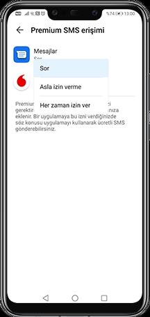 Telefonunuzdan  Mesajlar kısmını seçin.