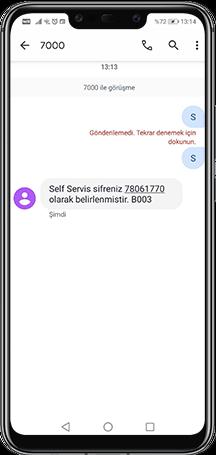 Telefonunuzdan 7000'e SMS gönderebilirsiniz.