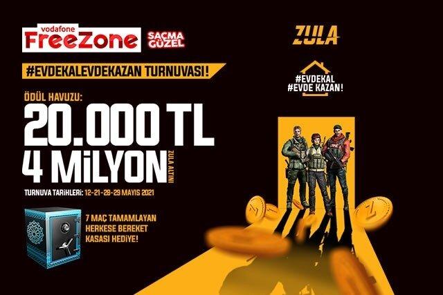 Vodafone Mobil Ödeme ile Zula'da ödeme yap, Vodafone FreeZone #evdekalevdekazan turnuvalarına biletini kap!