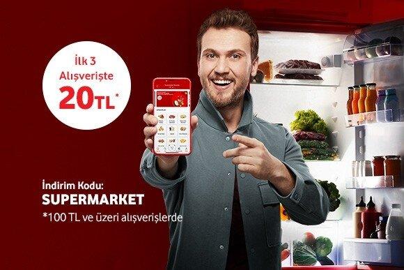 Vodafone Yanımda'da Süpermarket indirimi var