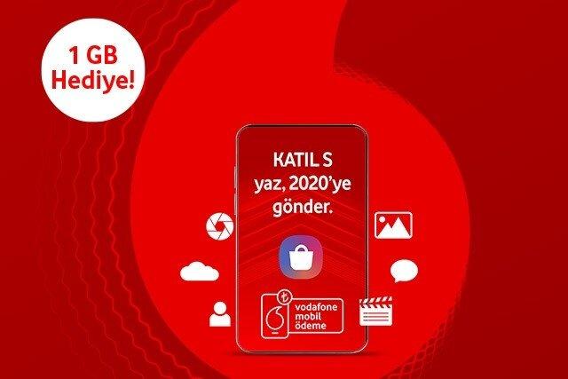 Vodafone Mobil Ödeme ile Galaxy Store'da 10 TL ve üzeri ilk harcamanızı yapın, 1 GB internet kazanın!