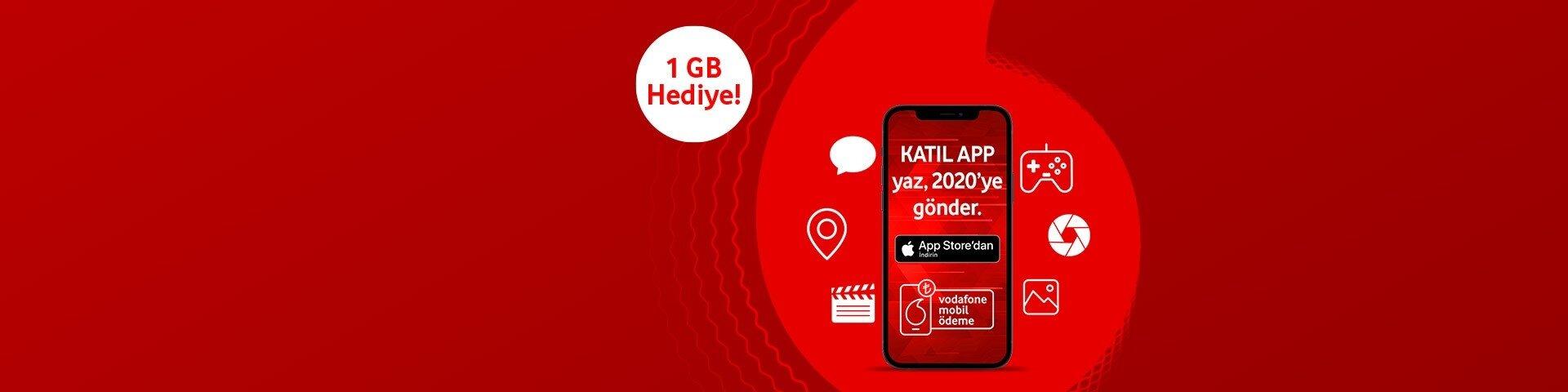 Vodafone Mobil Ödeme'den 1 GB internet hediye!