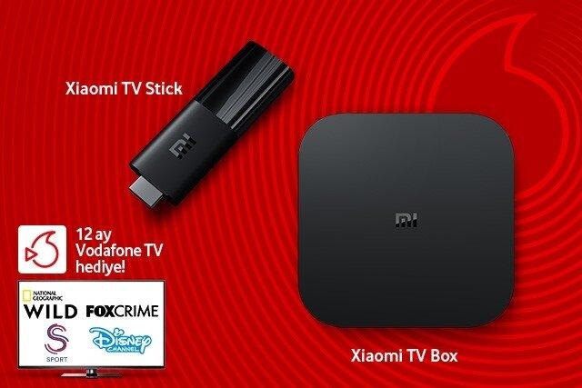 Xiaomi TV Stick veya TV Box alana, 12 ay boyunca Vodafone TV hediye!