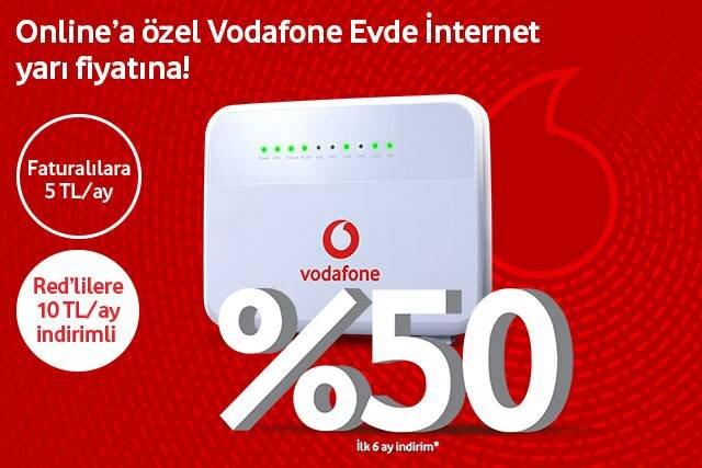 Vodafonelulara özel Evde İnternet fırsatları