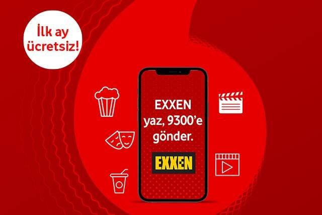 Vodafone Mobil Ödeme ile Exxen üyeliğinizi başlatın, ilk ay ücretsiz kullanın!
