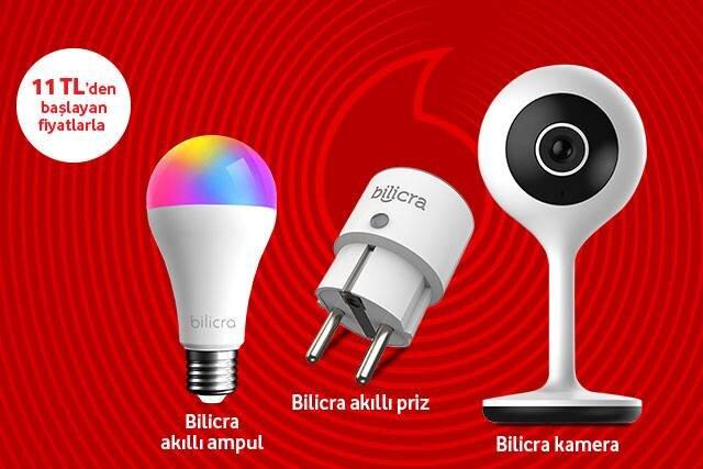 Bilicra akıllı ev ürünleri aylık 11 TL'den başlayan fiyatlarla Vodafone'da!