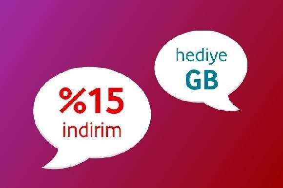 Online başvurulara özel hediye internet ve yüzde 15 indirim ile Vodafone'a geç!
