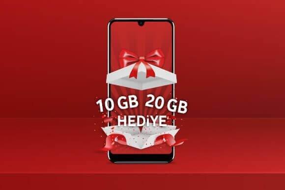 Red'e gelenlere 20 GB, Uyumlu'ya gelenlere 10 GB ilk ay hediye!