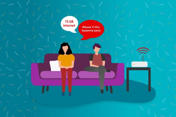 Arkadaşlarını Vodafone Evde İnternet'li yap, 3 ay geçerli 15GB hediye internet kazan!