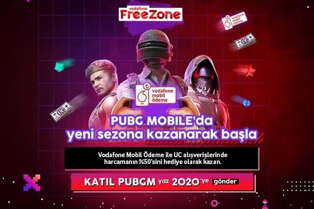 PUBG MOBILE alışverişini Vodafone Mobil Ödeme ile hattına yansıt, %50 indirim kazan!