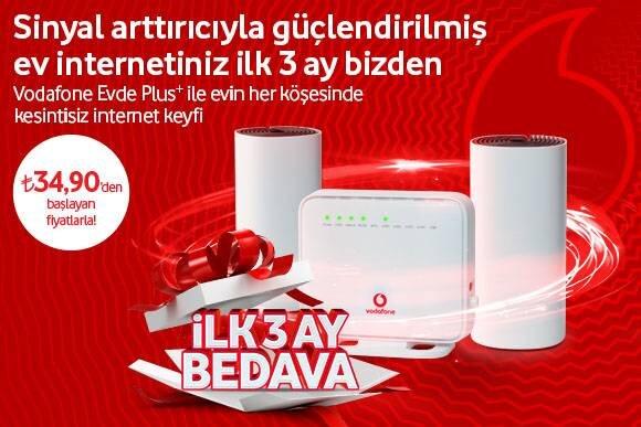 Vodafone Evde Plus+ Tarifeleri
