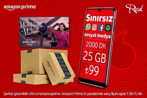 6 ay Amazon Prime üyeliği Vodafone Red'den!